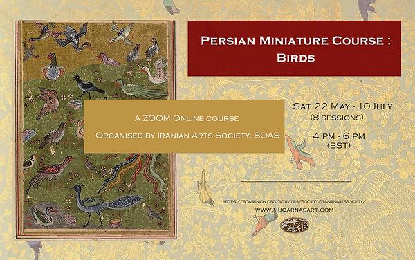 Muqarnas Art- Birds in Persian Minaiture- Anahita Alavi
