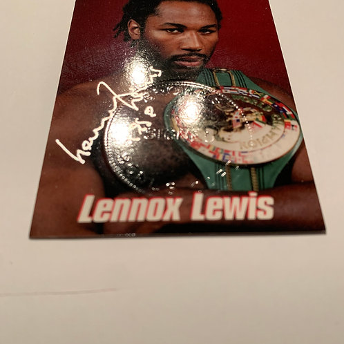 Lennox Lewis Signed 1999 Brown's Boxing Bonus Card #422 12th Se