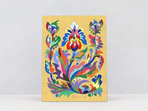 "Art Print on Canvas ""Pea blossom"""