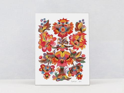 "Art Print on Canvas ""World Tree"""