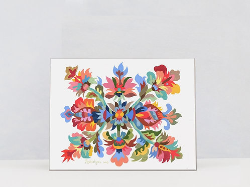 "Art Print on Canvas ""Mandala"""