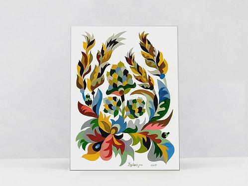 "Art Print on Canvas ""Hops and barley"""
