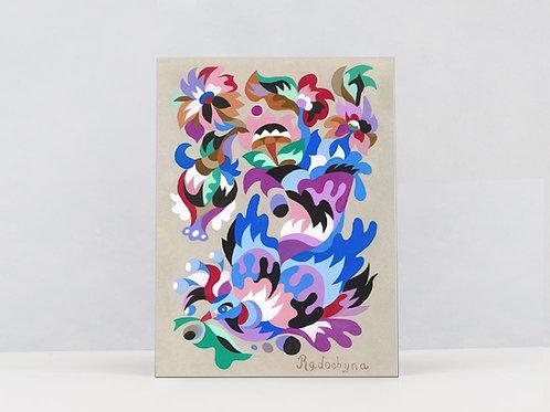 "Art Print on Canvas ""Abundance bird"""