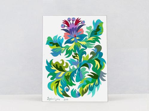 "Art Print on Canvas ""Thistle"""