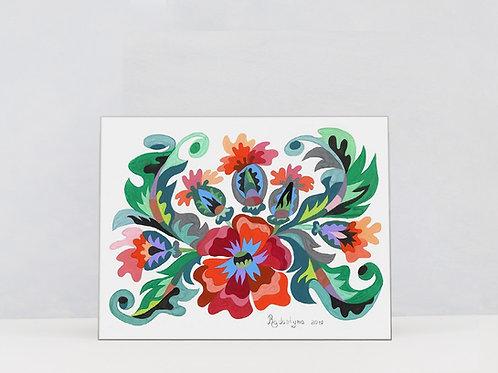 "Art Print on Canvas ""Poppies"""