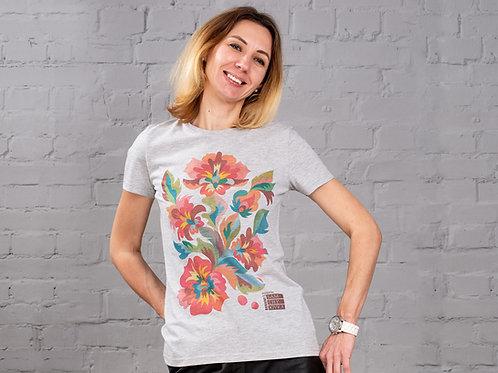 "T-Shirt Woman ""Pink flowers"""