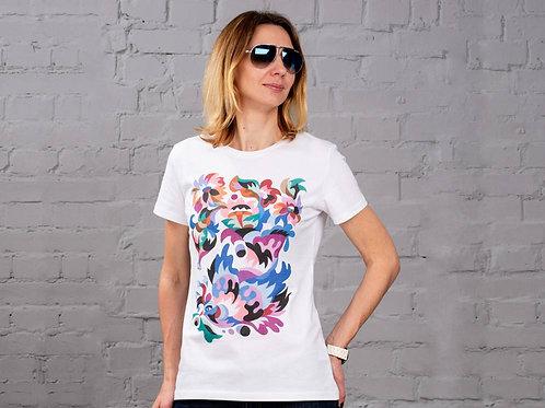 "T-Shirt Woman ""Abundance bird"""