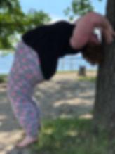 plussize yoga backbend