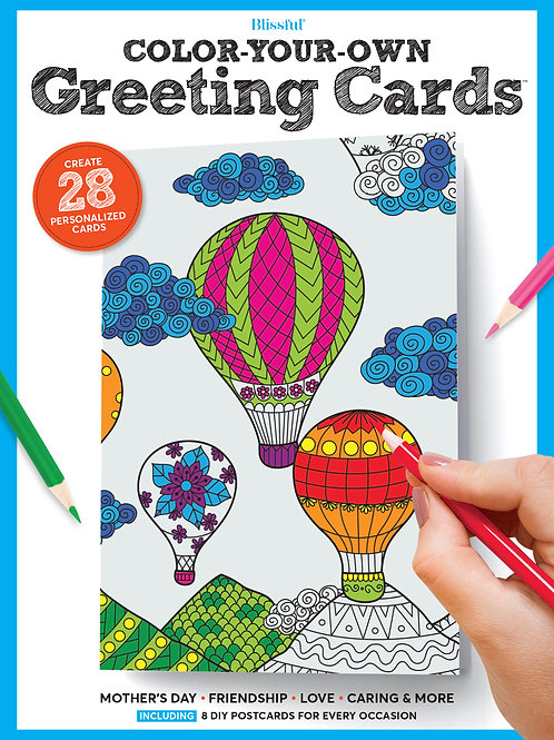 Blissful Color-Your-Own Greeting Cards