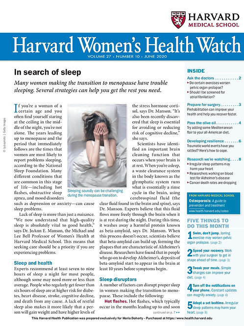 Harvard Women's Health Watch