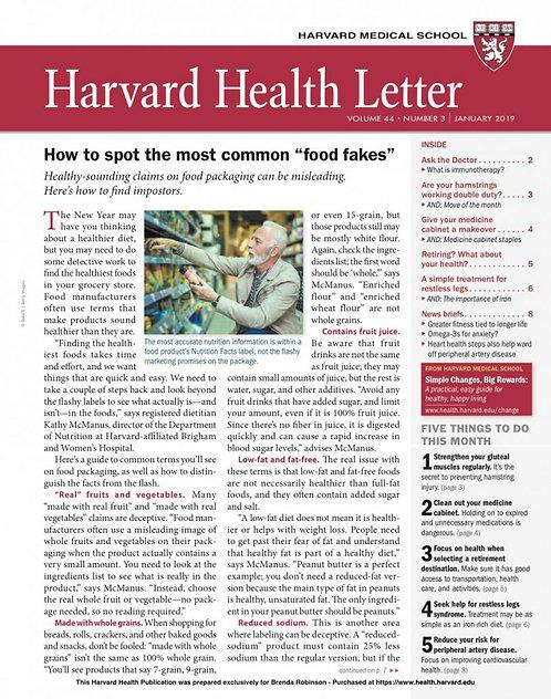 Harvard Health Letter