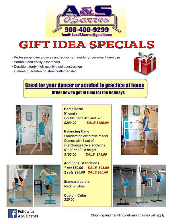 Dance barres at home or in the studio