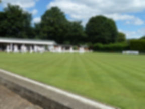 The Reigate Priory Bowling Club green and club house