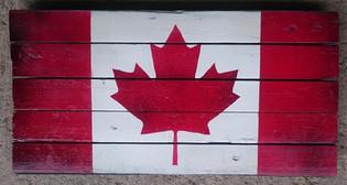 slatted canada flag