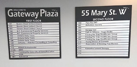 Gateway plaza directory boards