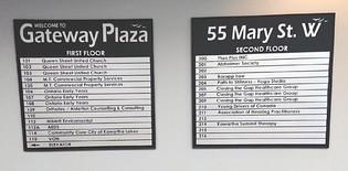 Gateway plaza directory boards