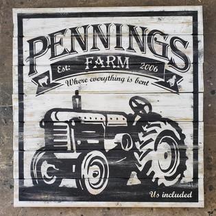 Pennings farm sign