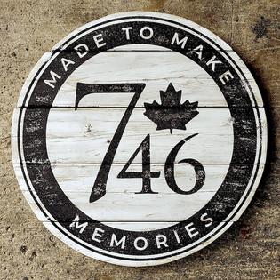746 rustic wood sign