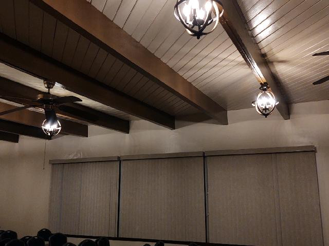 New Light Fixtures in Fellowship Hall