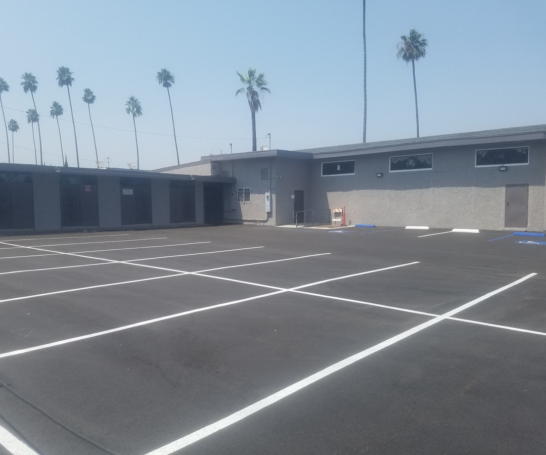 Newly Paved Parking Lot