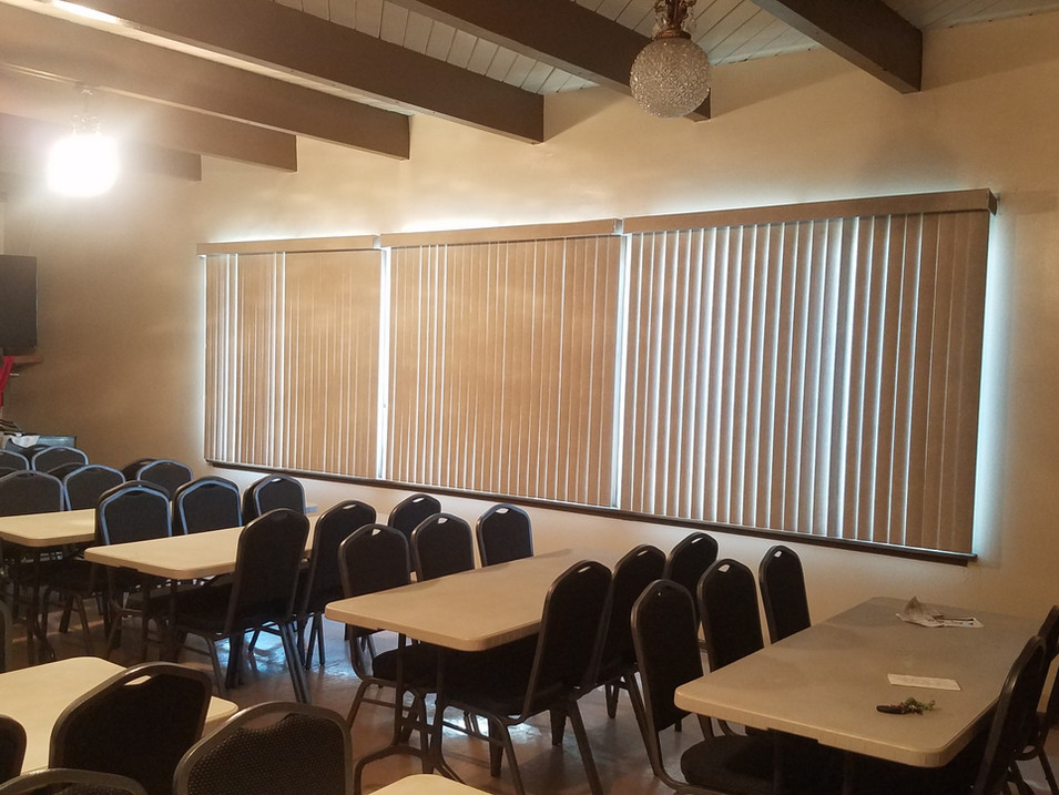 Fellowship Hall Blinds Installation