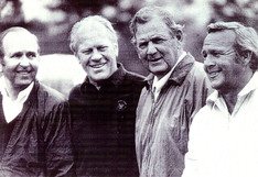 Elbert J. with President Ford, Bear Bryant, & Arnold Palmer