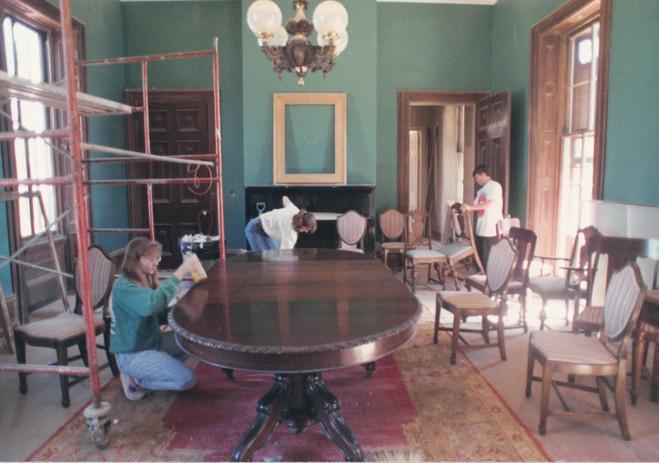 Dining Room During Restoration