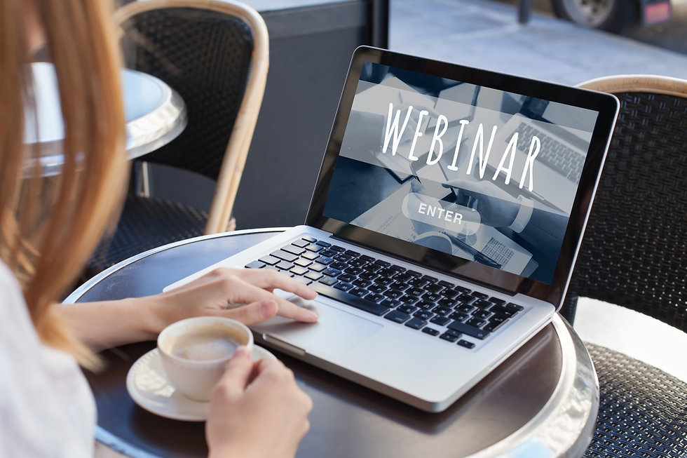 webinar online, internet education conce