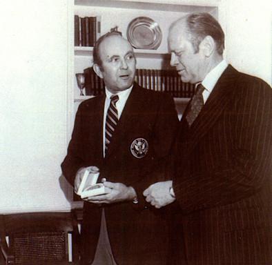 Elbert S. Jemison, Jr. & President Gerald Ford