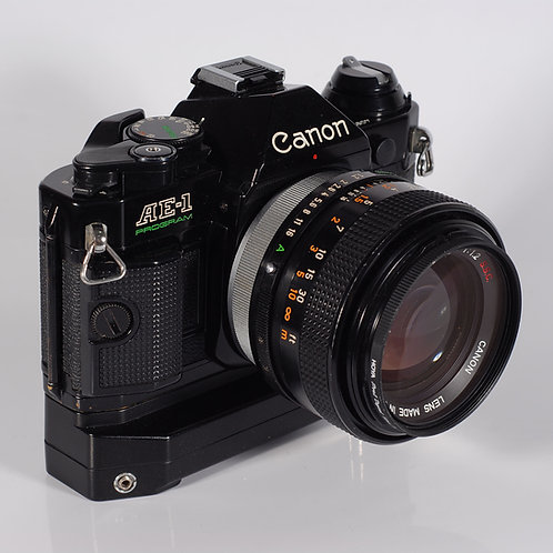 Canon AE1P W/ with Lens Canon FD 55mm F1.2