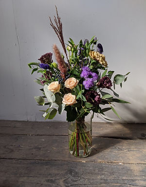 Jam Jar of Seasonal Flowers