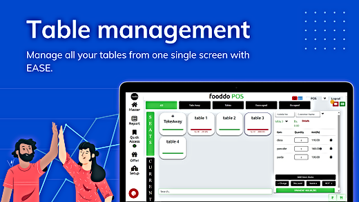 fooddo Restaurant table management on pc