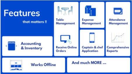 restaurant management system features