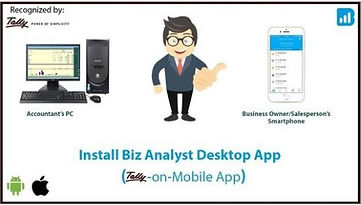 Tally on mobile App biz analyst business growth mobile app. See tally data anywhere on the way