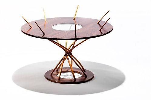 Peruvian Walnut Sculptural Table