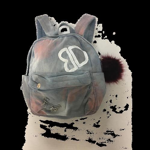 Graffiti  Denim Backpack
