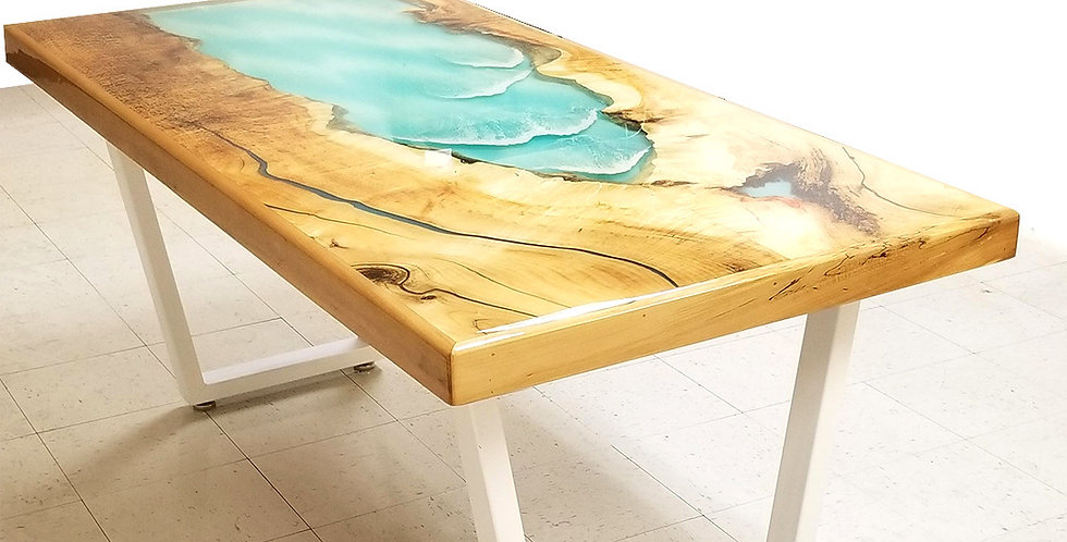 Ocean Wave River Table