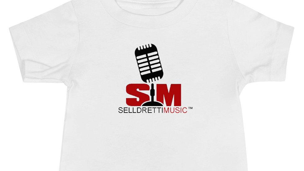Selldretti Music Baby Jersey Short Sleeve Tee (White)