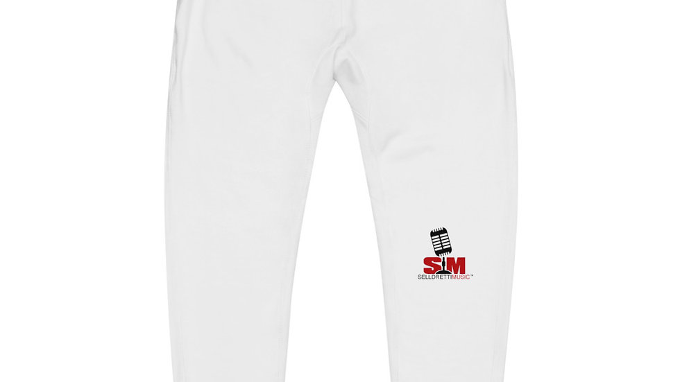 Selldretti Music Unisex Fleece Sweatpants (White)