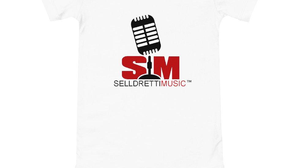 Selldretti Music Baby Short Sleeve Onesie (White)