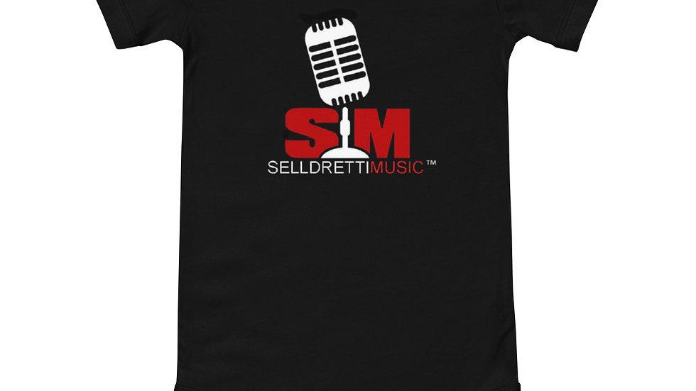 Selldretti Music Baby Short Sleeve Onesie (Black)