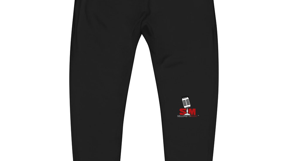 Selldretti Music Unisex Fleece Sweatpants (Black)