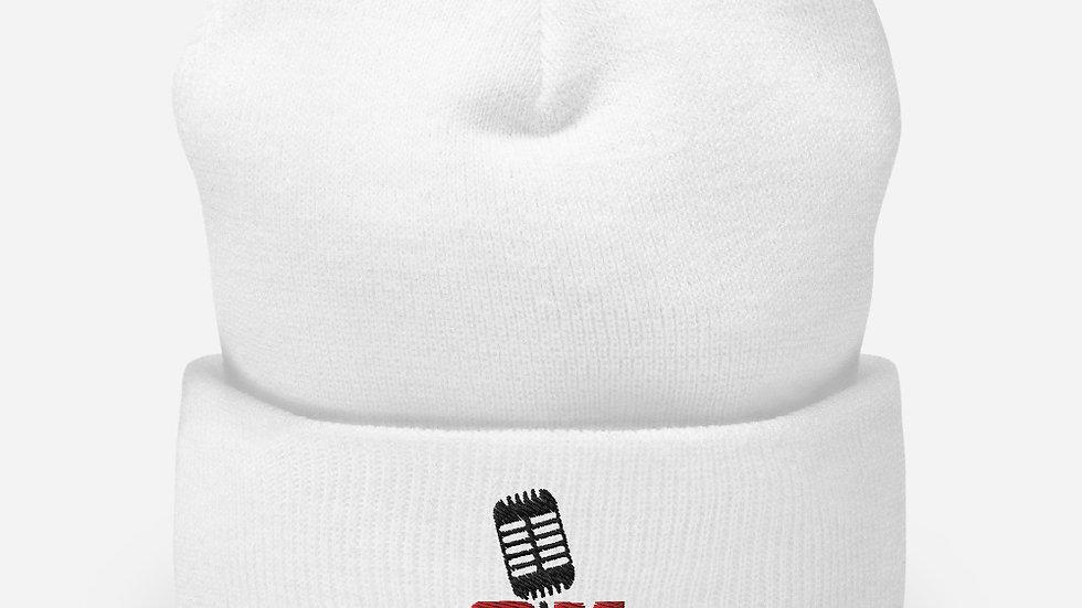 Selldretti Music Cuffed Beanie (White)