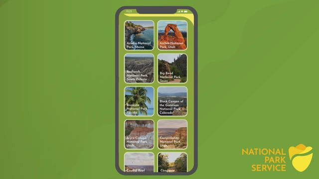 National Park Service App Animation