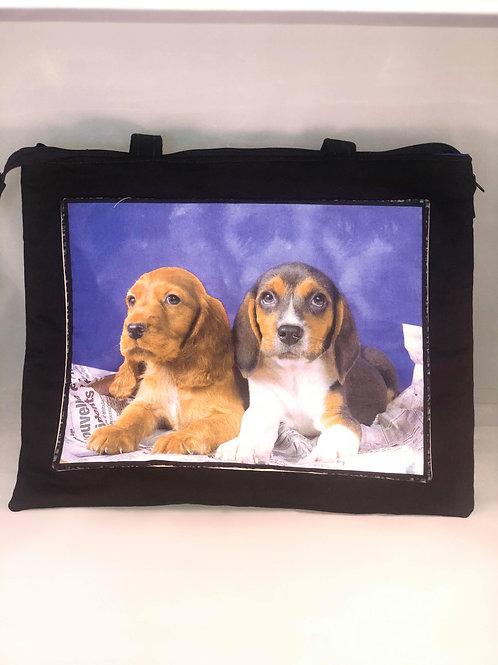Cocker Spaniel and Beagle Tote Bag
