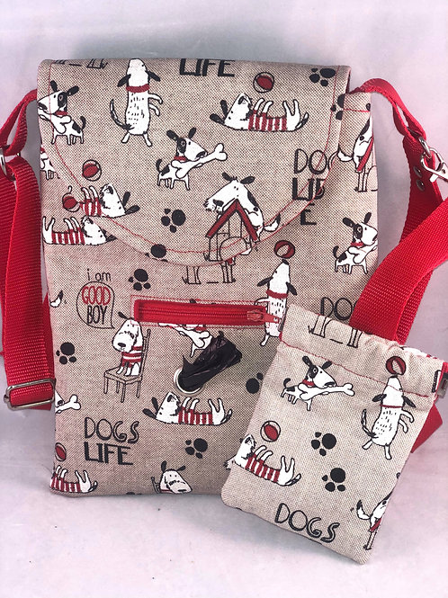 'Dog Life' Dog Walking Bag and Treat Bag