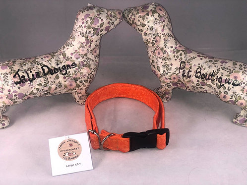 Large Orange Dog Collar