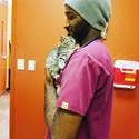 Baby Wesley & Wesley our vet tech