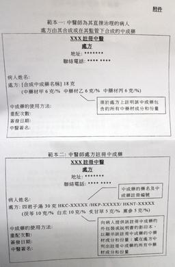 【緊急】中醫處方「新」規範