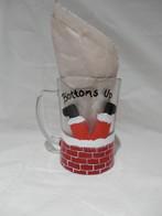 Bottoms Up Santa